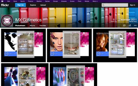 Screenshot of Flickr Page flickr.com - Flickr: IMX Cosmetics' Photostream - captured Oct. 23, 2014