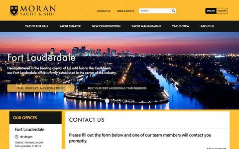 Screenshot of Contact Page moranyachts.com - Contact Us | Moran Yacht & Ship - captured Oct. 26, 2014