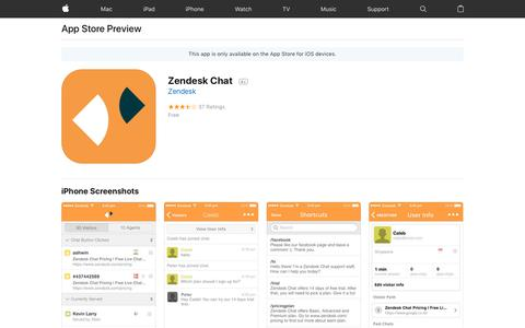 Zendesk Chat on the AppStore