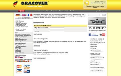 Screenshot of Login Page oracover.de - Lanitz Prena Folien Factory GmbH - captured Feb. 27, 2017
