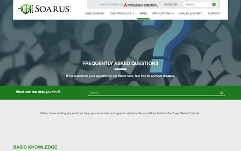 Screenshot of FAQ Page soarus.com - Frequently Asked Questions | Soarus LLC - captured Oct. 19, 2018