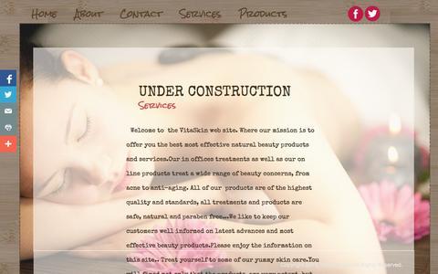 Screenshot of Services Page vitaskinplus.com - Services - captured Oct. 7, 2014