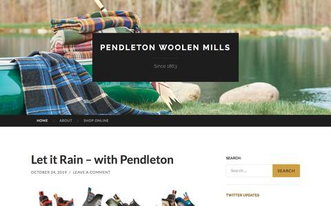 Screenshot of Blog pendleton-usa.com - Pendleton Woolen Mills | Since 1863 - captured Nov. 6, 2019