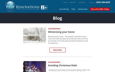 Screenshot of Blog pdxrenovations.com - Blog - Sell Your Portland House Fast - captured July 14, 2018