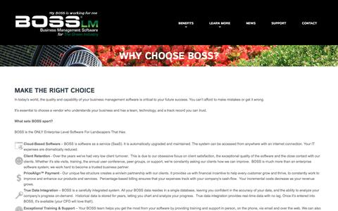 Why Choose BOSS?  |  BOSS LM