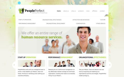 Screenshot of Home Page peopleperfect.com - PeoplePerfect - Offering a full range of Human Resource services. - captured Sept. 29, 2014