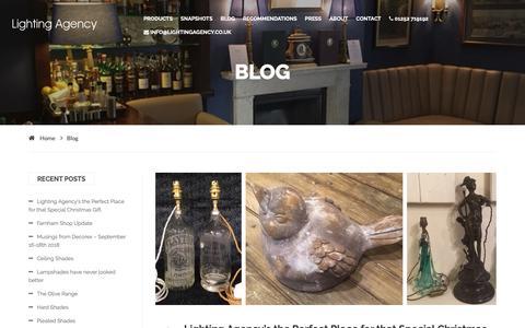Screenshot of Blog lightingagency.co.uk - Lighting Agency | Blog - captured Dec. 8, 2018