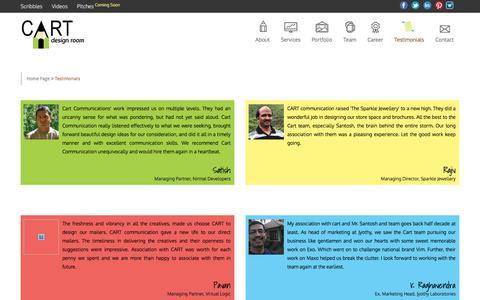 Screenshot of Testimonials Page cartcommunication.com - Testimonials   Cart Communication - captured July 7, 2017
