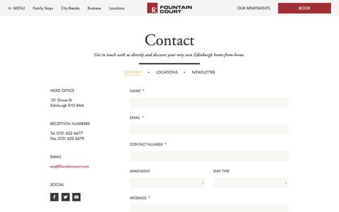 Screenshot of Contact Page fountaincourtapartments.com - Contact Us | Fountain Court Apartments - captured June 6, 2017