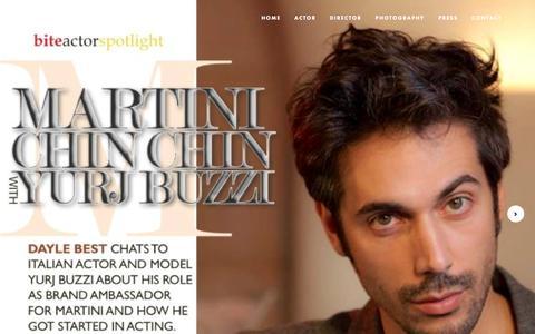 Screenshot of Press Page yuribuzzi.com - Actor - Yuri Buzzi - captured Feb. 18, 2018