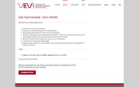 Screenshot of Signup Page veva.ca - Join VEVA – VEVA - captured Nov. 11, 2017