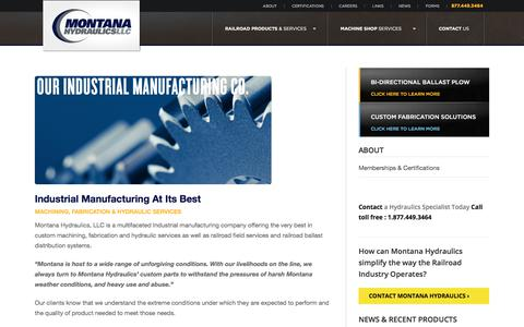 Screenshot of About Page montanahydraulics.com - Industrial Manufacturing Company | Industrial Manufacturing companies | Montana Hydraulics LLC - captured Feb. 5, 2018