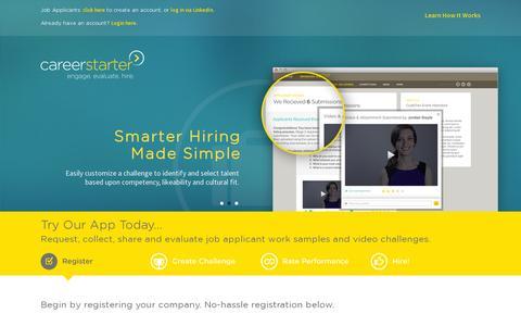 Screenshot of Home Page careerstarter.com - CareerStarter - captured July 17, 2014