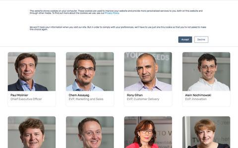 Screenshot of Team Page viaccess-orca.com - VO Leadership - captured Sept. 21, 2018