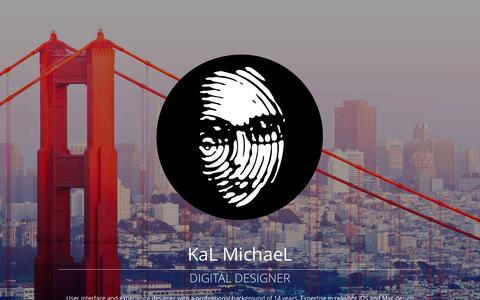 Screenshot of Home Page kalmichael.com - KaL MichaeL Digital Designer | 14 years of user interface and experience design. - captured Sept. 11, 2015