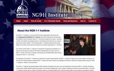Screenshot of About Page ng911institute.org - About the NG9-1-1 Institute - captured Oct. 9, 2014