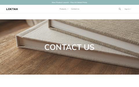 Screenshot of Contact Page loktah.com - Contact Us                      – LOKTAH - captured July 23, 2018