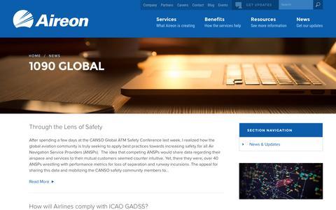 Screenshot of Blog aireon.com - 1090 Global Archive - Aireon - captured Dec. 6, 2016