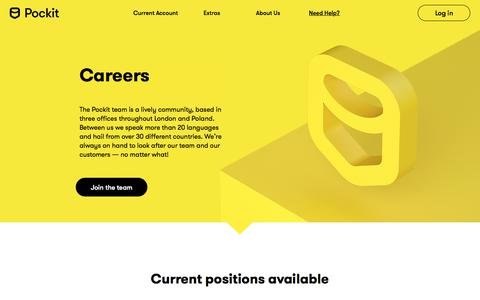 Screenshot of Team Page pockit.com - Team - captured Feb. 6, 2020