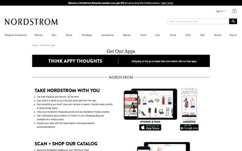Free Nordstrom Apps for iPhone & iPad