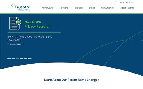 Screenshot of Home Page Privacy Page trustarc.com - TrustArc - Technology Powered Privacy Compliance Solutions - captured Aug. 7, 2017
