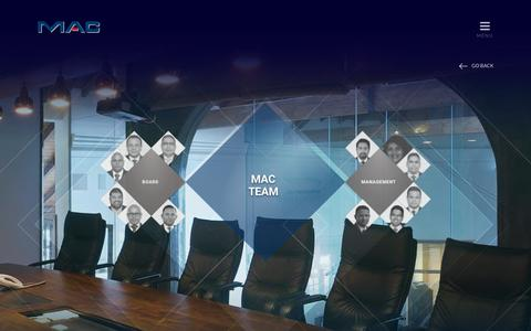 Screenshot of Team Page macholdings.com - Management - MAC Holdings - captured Oct. 1, 2018