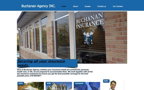 Screenshot of Home Page buchins.com - Buchanan Insurance Agency - captured Feb. 8, 2016