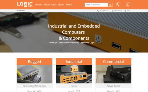 Screenshot of Products Page logicsupply.com - Industrial and Embedded Computers & Components  | Logic Supply Italia - captured April 1, 2016