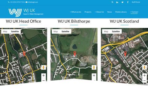 Screenshot of Contact Page wjgl.com - Contact | WJ UK - captured Oct. 18, 2018