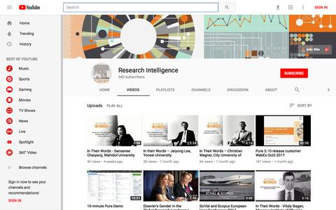 Research Intelligence - YouTube - YouTube