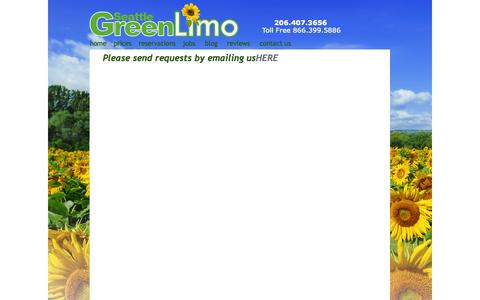 Screenshot of Contact Page seattlegreenlimo.com - Seattle Green Limo - Seattle Limo Service - Seattle Limousines - captured Sept. 30, 2014
