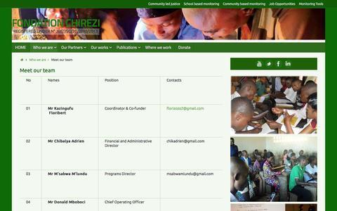 Screenshot of Team Page fochi.org captured June 2, 2016