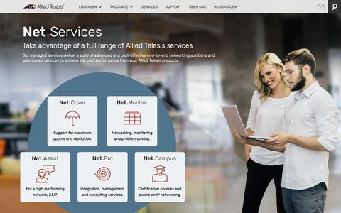 Screenshot of Services Page alliedtelesis.com - Services | Allied Telesis - captured May 18, 2019
