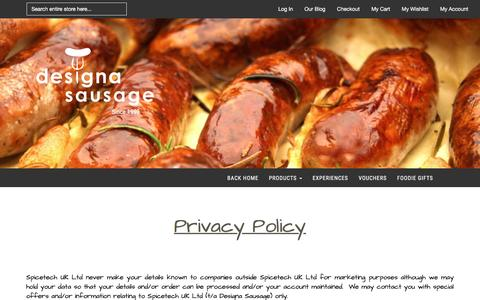 Screenshot of Privacy Page designasausage.com - Privacy Policy - captured Feb. 17, 2016