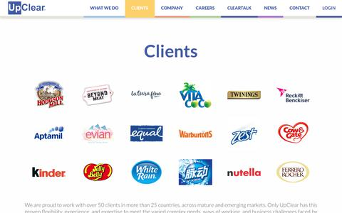 Screenshot of Case Studies Page Testimonials Page upclear.com - Clients - UpClear - captured Dec. 25, 2018