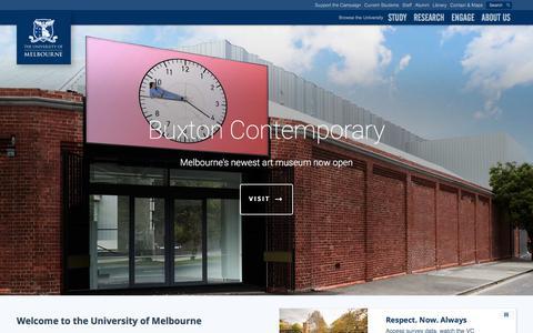 The University of Melbourne, Australia - Australia's best university and one of the world's finest