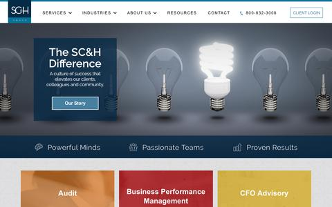Screenshot of Home Page scandh.com - SC&H Group Inc. | Audit, Tax & Consulting Firm - captured Aug. 4, 2017