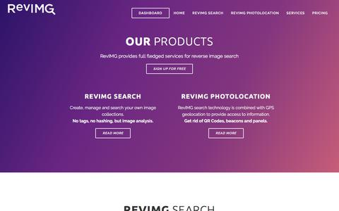 Screenshot of Products Page revimg.com - RevIMG | reverse image search engine - captured Dec. 3, 2016