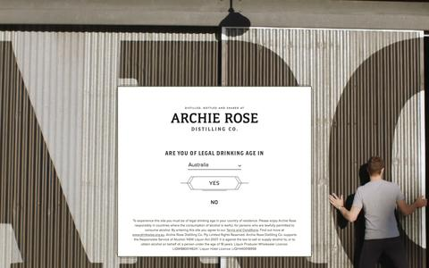 Screenshot of Terms Page archierose.com.au - Terms & Conditions | Archie Rose Distilling Co. - captured Nov. 21, 2016