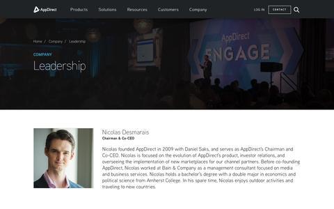 Screenshot of Team Page appdirect.com - Leadership - AppDirect - captured May 2, 2017