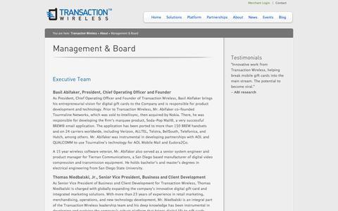 Screenshot of Team Page transactionwireless.com - » Transaction Wireless > About Us > - captured Sept. 17, 2014