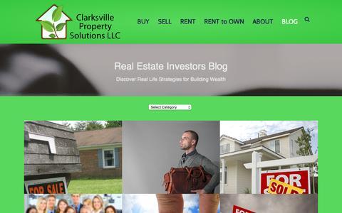 Screenshot of Blog clarksvillepropertysolutions.com - Authority - Blog - Clarksville Property Solutions LLC - captured Jan. 28, 2016