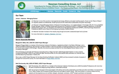 Screenshot of Team Page newmanconsultinggroup.us - Management - captured Oct. 7, 2014