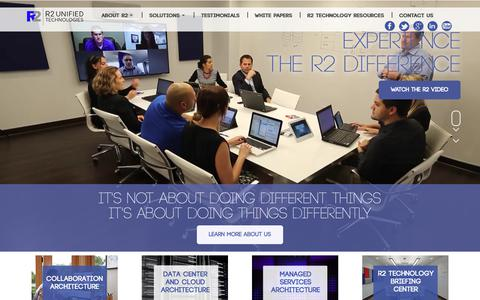 Screenshot of Home Page r2ut.com - R2 Unified Technologies   Information Technology Systems Integrator - captured Oct. 18, 2018