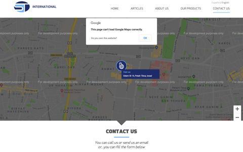 Screenshot of Contact Page st-optics.com - Contact Us - St InternationalSt International - captured Oct. 1, 2018