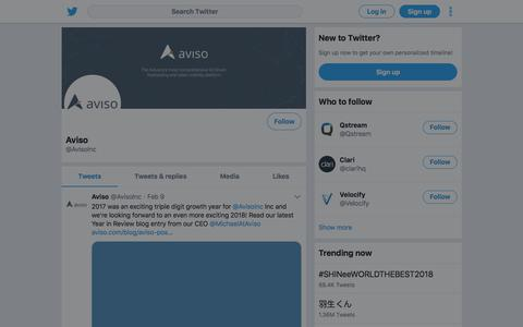 Tweets by Aviso (@AvisoInc) – Twitter