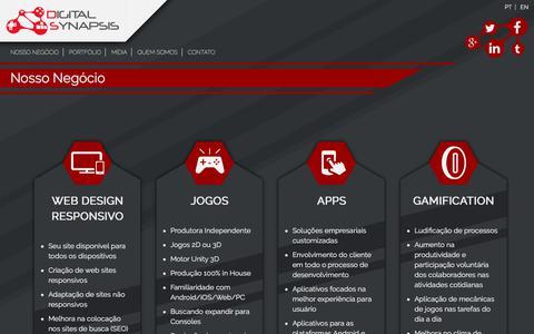 Screenshot of Home Page digitalsynapsis.com.br - Digital Synapsis - captured Aug. 6, 2018