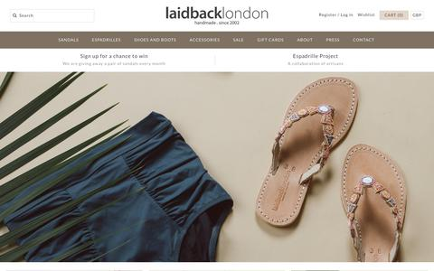Screenshot of Home Page laidbacklondon.com - laidback london - captured May 24, 2017