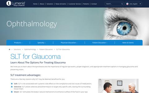 SLT for Glaucoma - How Do You Treat Glaucoma | Lumenis Ophthalmic Lasers