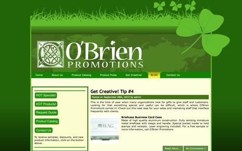 Screenshot of Blog obrienpromotions.com - O'Brien Promotions - captured Oct. 9, 2014